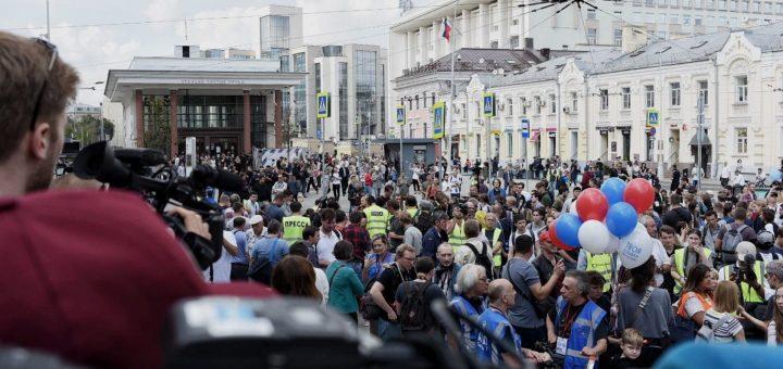 Шествие против политических репрессий прошло мирно
